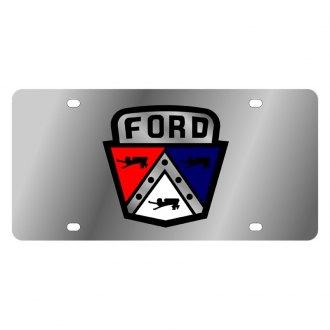 Eurosport Daytona® - Ford Motor Company Polished License Plate with Black Ford Retro Logo