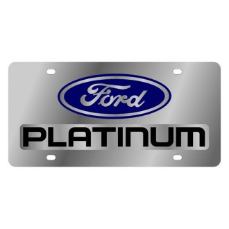 Eurosport Daytona® - Ford Motor Company Polished License Plate with Black Platinum Logo