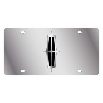 Eurosport Daytona® - Ford Motor Company Polished License Plate with Black / Silver Lincoln Emblem