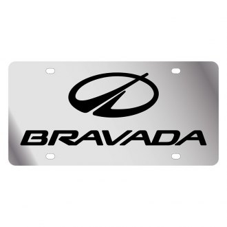 Eurosport Daytona® - GM Polished License Plate with Black Bravada Logo and Oldsmobile Emblem