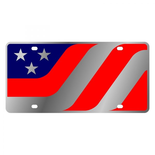 Eurosport Daytona® - LSN License Plate with American Flag Caricature Logo