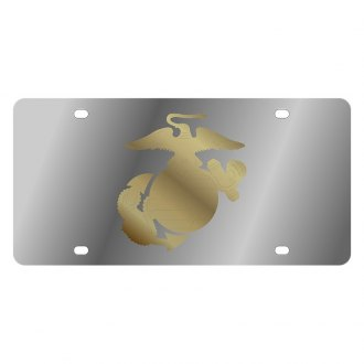 Eurosport Daytona® - LSN Polished License Plate with Marines Logo