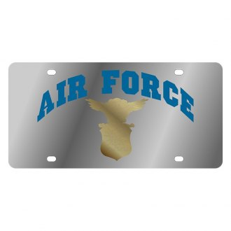 Eurosport Daytona® - LSN Polished License Plate with Air Force Arched Logo
