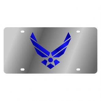 Eurosport Daytona® - LSN Polished License Plate with Air Force Logo