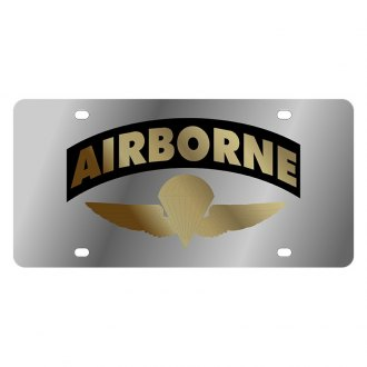 Eurosport Daytona® - LSN Polished License Plate with Air Borne Arched Logo