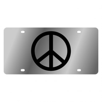 Eurosport Daytona® - LSN Polished License Plate with Peace Sign Logo