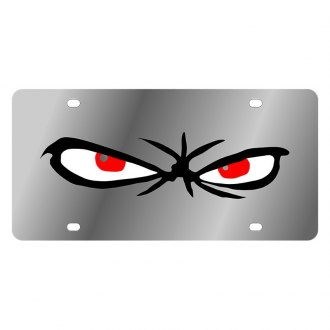 Eurosport Daytona® - LSN Polished License Plate with Scary Eyes Logo