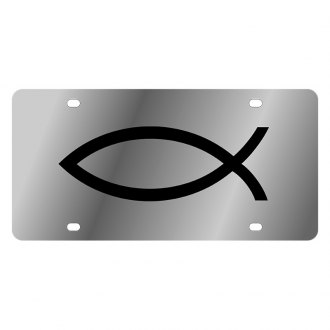 Eurosport Daytona® - LSN Polished License Plate with Fish Logo