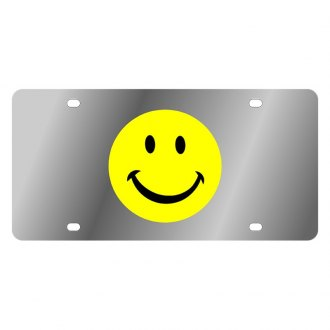 Eurosport Daytona® - LSN Polished License Plate with Smiley Face Logo