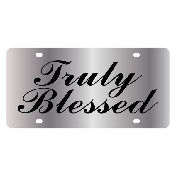 Eurosport Daytona® - LSN License Plate with Christian Truly Blessed Logo