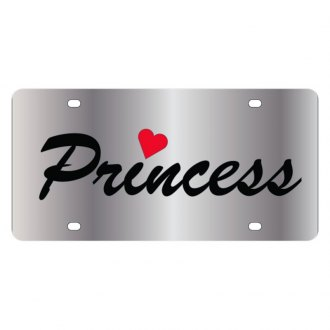 Eurosport Daytona® - LSN Polished License Plate with Princess Logo