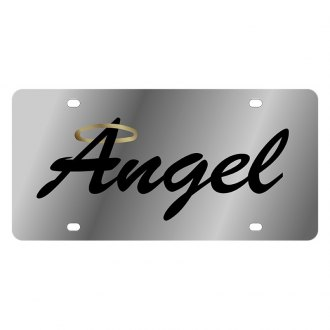 Eurosport Daytona® - LSN Polished License Plate with Angel with Halo Logo