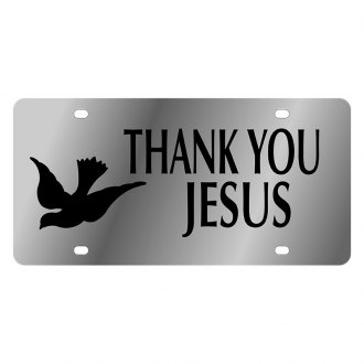 Eurosport Daytona® - LSN Polished License Plate with Thank You Jesus Logo