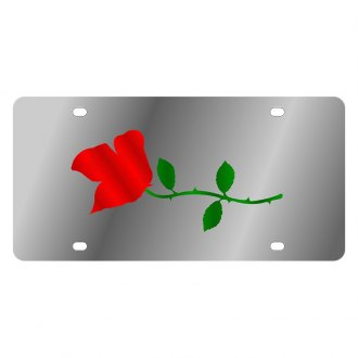 Eurosport Daytona® - LSN Polished License Plate with Rose Logo
