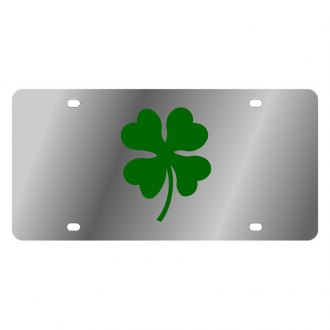 Eurosport Daytona® - LSN Polished License Plate with Clover Leaf Logo