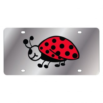 Eurosport Daytona® - LSN Polished License Plate with Lady Bug Logo