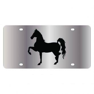 Eurosport Daytona® - LSN Polished License Plate with Style 1 Horse Logo