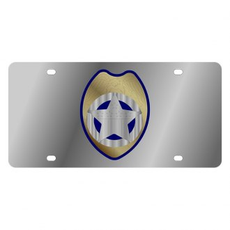 Eurosport Daytona® - LSN Polished License Plate with Police Badge Logo