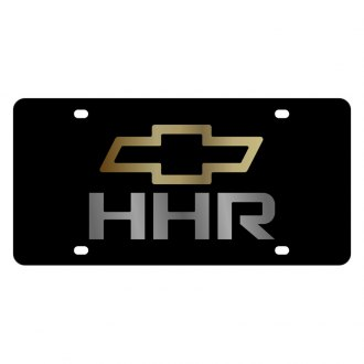 Eurosport Daytona® - GM Lazertag Black License Plate with Gold / Chrome HHR Logo and Chevrolet Emblem