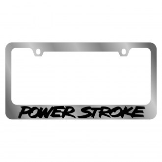 Eurosport Daytona® - Ford Motor Company Chrome License Plate Frame with Power Stroke Logo