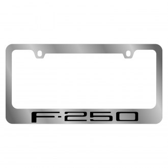 Eurosport Daytona® - Ford Motor Company Chrome License Plate Frame with F-250 Logo