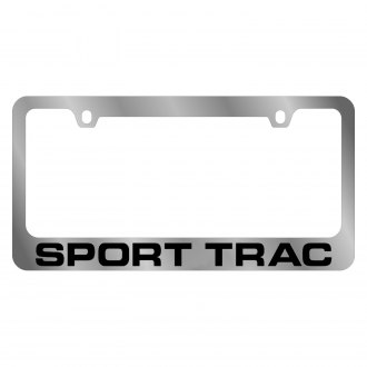 Eurosport Daytona® - Ford Motor Company Chrome License Plate Frame with Black Sport Trac Logo