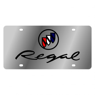 Eurosport Daytona® - GM License Plate with Black Regal Logo
