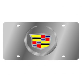 Eurosport Daytona® - GM License Plate with Silver Cadillac New Logo