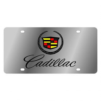 Eurosport Daytona® - GM License Plate with Black Cadillac Script Logo