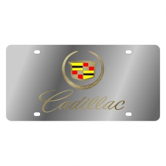 Eurosport Daytona® - GM License Plate with Gold Cadillac Script Logo