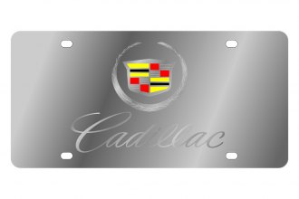 Eurosport Daytona® - GM License Plate with Silver Cadillac Script Logo