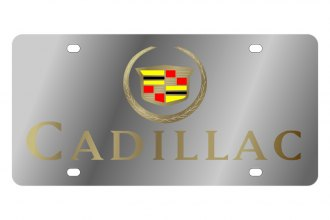 Eurosport Daytona® - GM License Plate with Gold Cadillac Logo