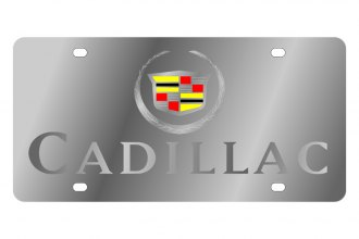 Eurosport Daytona® - GM License Plate with Silver Cadillac Logo