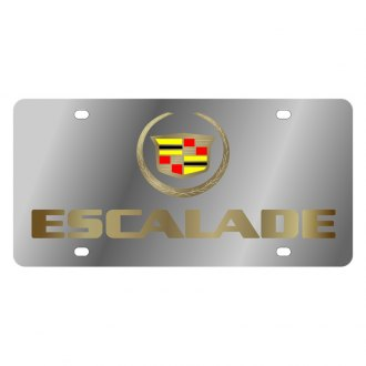 Eurosport Daytona® - GM License Plate with Gold Escalade Logo