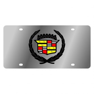 Eurosport Daytona® - GM License Plate with Black Cadillac Logo