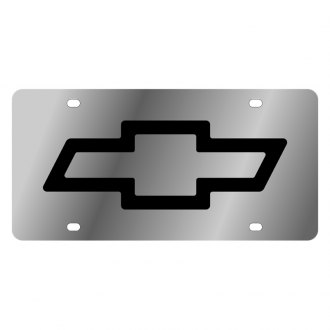 Eurosport Daytona® - GM License Plate with Black Chevrolet Bowtie Logo