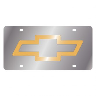 Eurosport Daytona® - GM License Plate with Gold Chevrolet Bowtie Logo