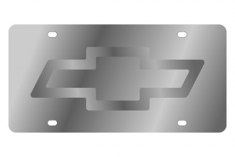 Eurosport Daytona® - GM License Plate with Silver Chevrolet Bowtie Logo