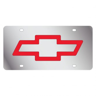 Eurosport Daytona® - GM License Plate with Red Chevrolet Bowtie Logo