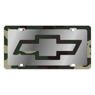 Eurosport Daytona® 1301SLD-2GC - GM License Plate with Gold Chevrolet Bowtie Logo