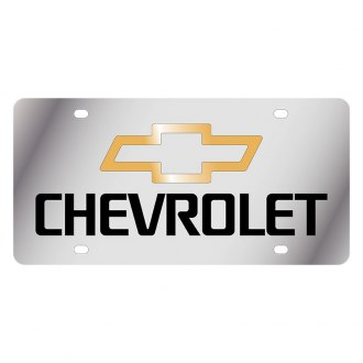 Eurosport Daytona® - GM License Plate with Black Chevrolet Logo