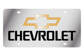 Eurosport Daytona® 1302-1GB - GM License Plate with Black Chevrolet Logo