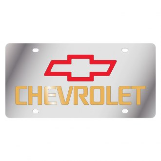Eurosport Daytona® - GM License Plate with Gold Chevrolet Logo
