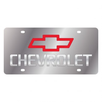 Eurosport Daytona® - GM License Plate with Silver Chevrolet Logo