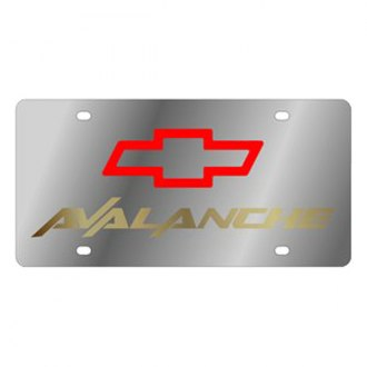 Eurosport Daytona® - GM License Plate with Gold Avalanche Logo