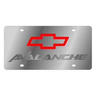 Eurosport Daytona® - GM License Plate with Silver Avalanche Logo