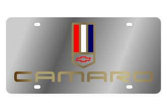 Eurosport Daytona® - GM License Plate with Gold Camaro Logo