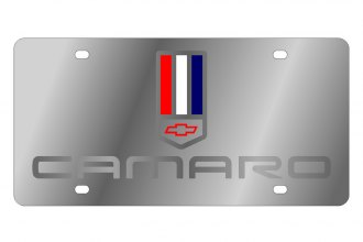 Eurosport Daytona® - GM License Plate with Silver Camaro Logo