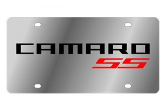 Eurosport Daytona® - GM License Plate with Red 2010 Camaro SS Logo