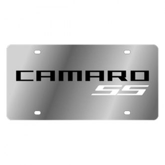 Eurosport Daytona® - GM License Plate with White 2010 Camaro SS Logo